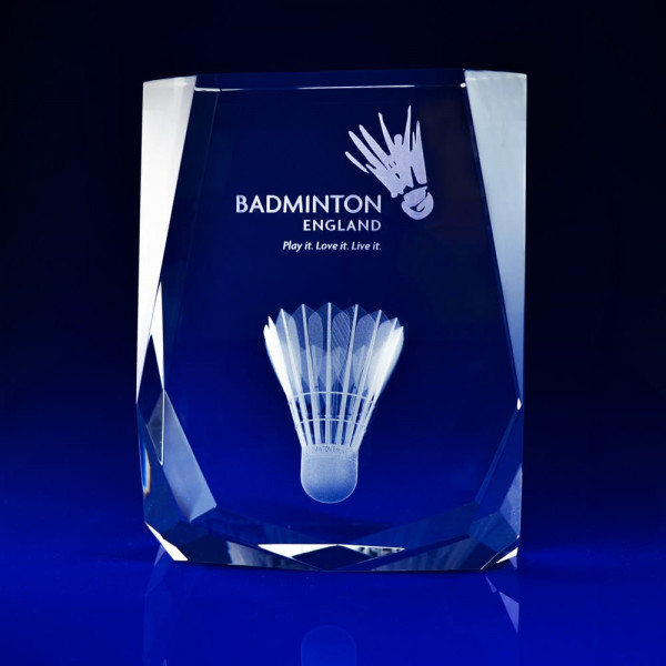 Engraved Glass Block, Badminton Award