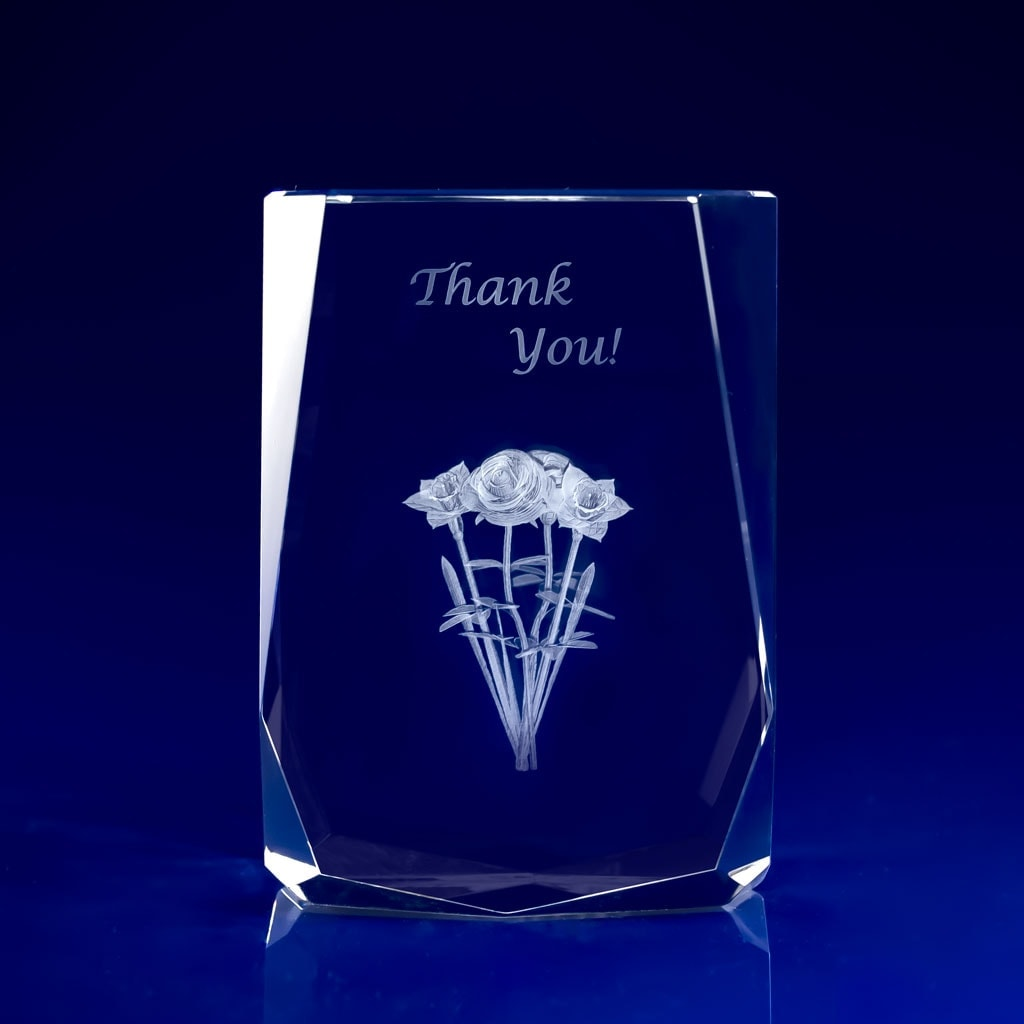 High Quality Glass Trophies For Corporate Events Laser