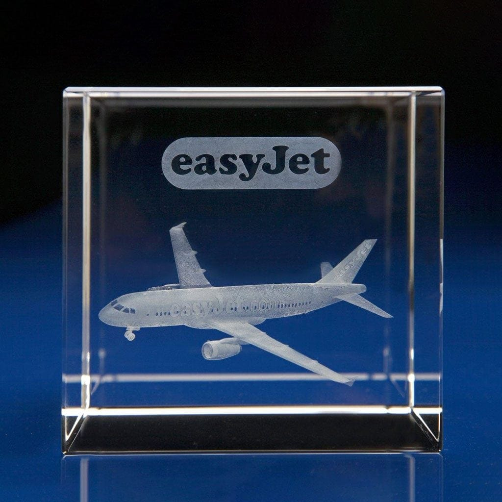 Cube Award - 3D aeroplane, Employee Incentive Ideas