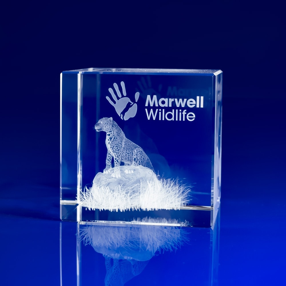 Cube Award - 3D Crystal Art, Corporate gifts paperweights, corporate event day giveaways, event day gifts, corporate experience gifts, corporate day gifts, crystal paperweights, crystal engraved paperweights, engraved 3D gifts, glass paperweights,
