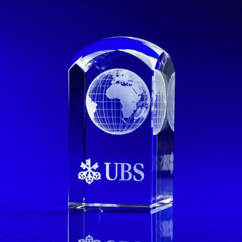 Dome Tower Globe Crystal Award