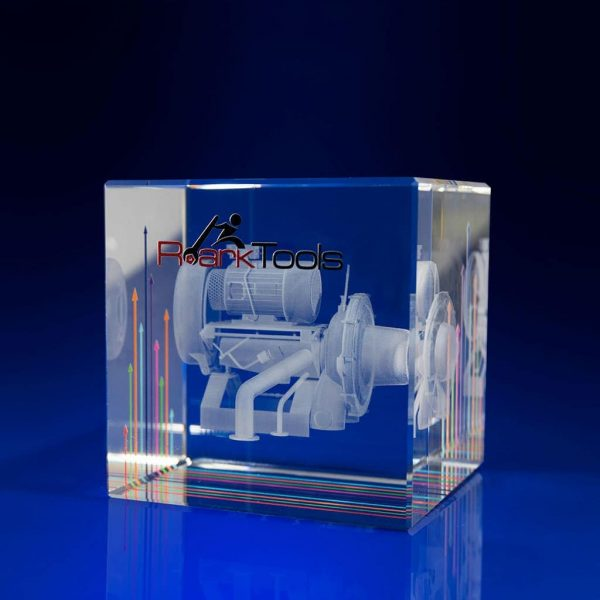 Full Colour Printed Cube Paperweight - 3d engi