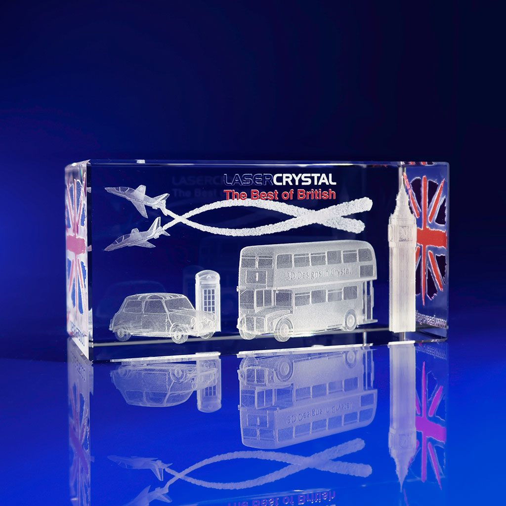 Full Colour Printed Paperweight - 3d London Sk
