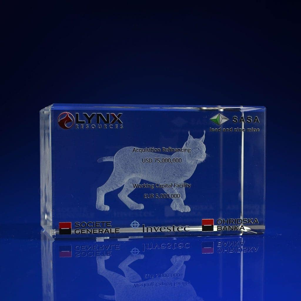 Full Colour Printed Paperweight - 3d corporate