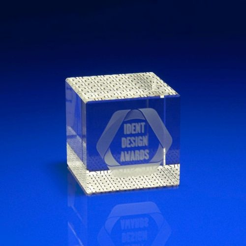 Full Colour Printed Paperweight - Cube shape