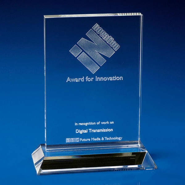 Ice Clear Crystal Award, work awards ideas, corporate awards, Corporate crystal Awards, corporate promotional gifts, crystal art glass, corporate recognition awards, business awards, glass awards, glass corporate awards
