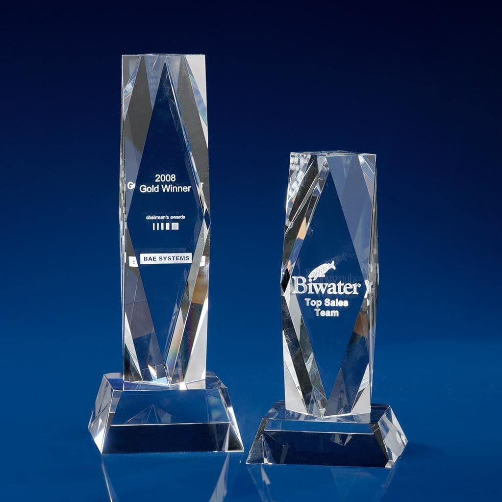 President Glass Awards - corporate trophies
