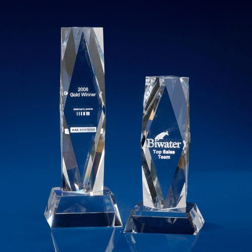 President Crystal Award - corporate trophies