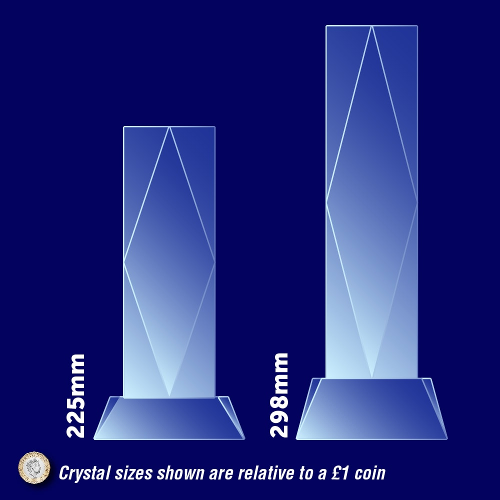 President Crystal Awards - Dimensions, Scale, measurements