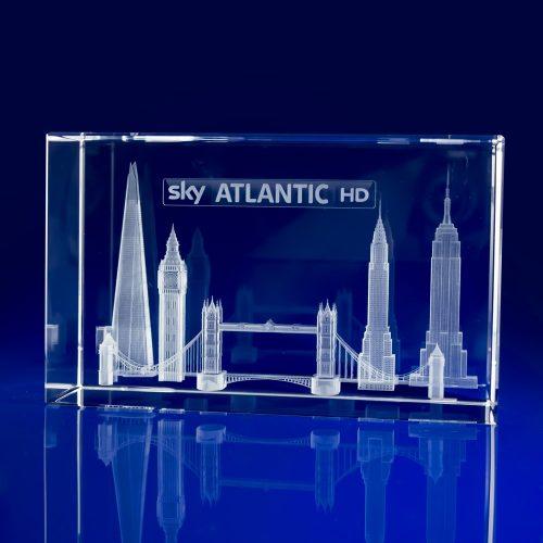 Rectangle Bespoke Awards - Engraved Skyline
