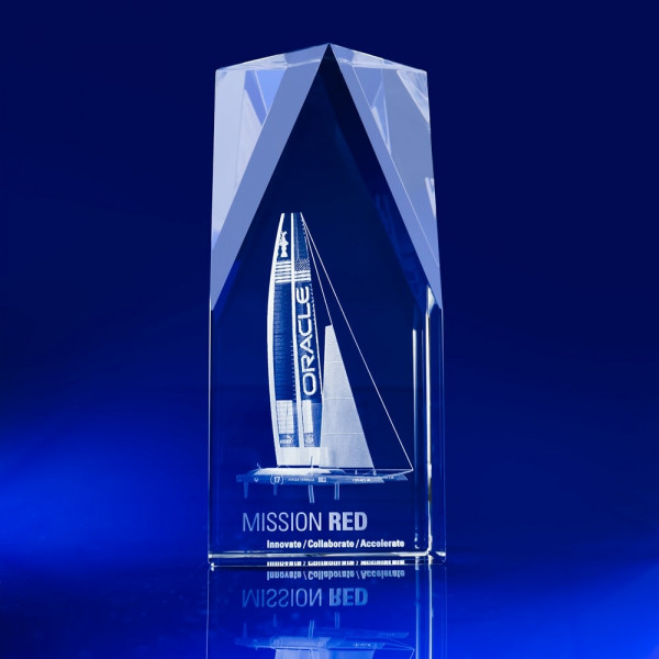 Steeple Award , company awards ideas, 3D corporate Crystal art, corporate awards, Corporate crystal Awards, corporate promotional gifts, crystal art glass, corporate recognition awards, business awards, glass awards, glass corporate awards, event awards, sponsorship awards, industry awards, product promotional giveaways, crystal gifts, boating awards, boat, sailing awards, catamaran