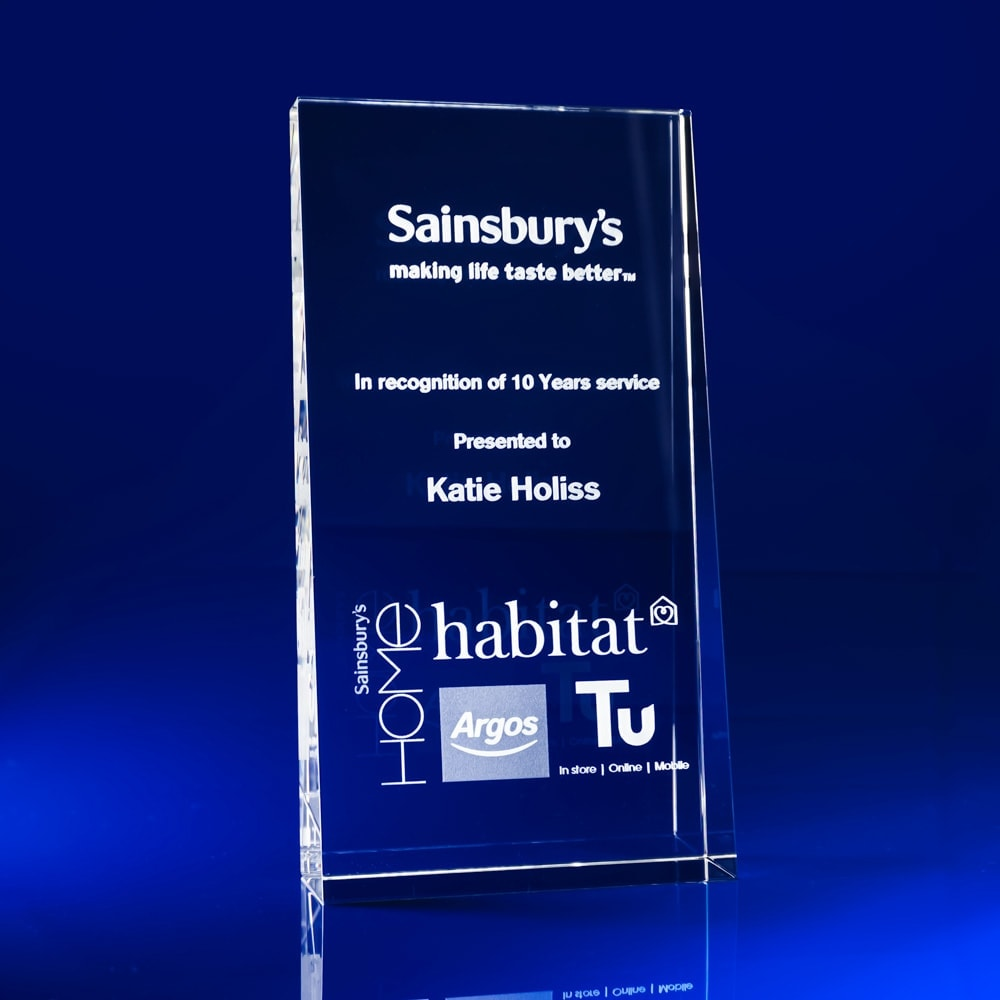 3D Laser Engraved Crystal Award