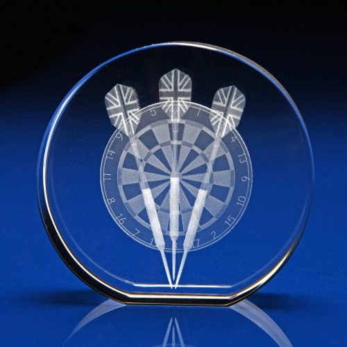 Crystal Disc Paperweight - sports gifts