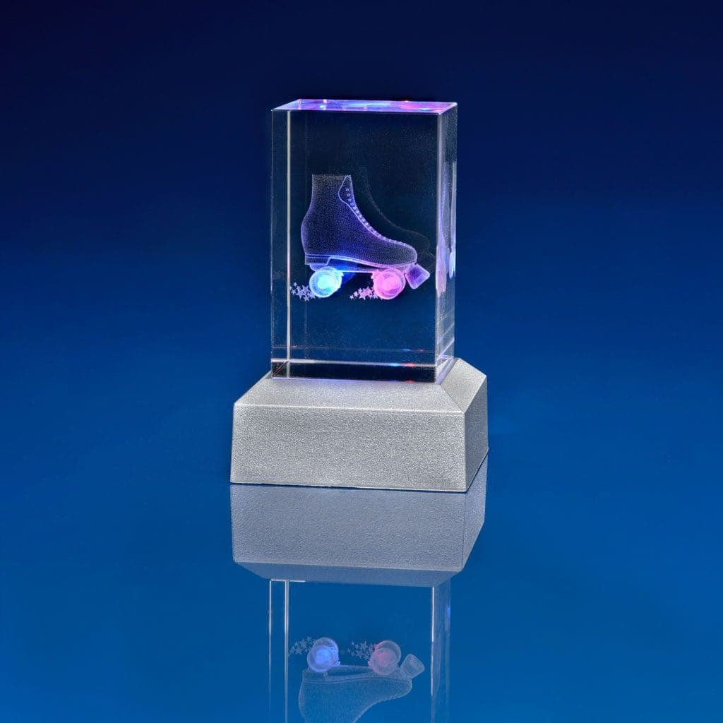 Crystal on LED Light Base Paperweight