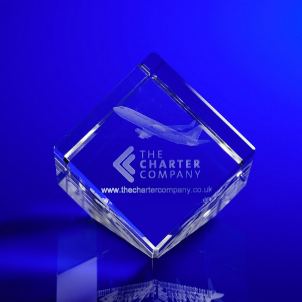 3D Engraved Crystal Awards for business