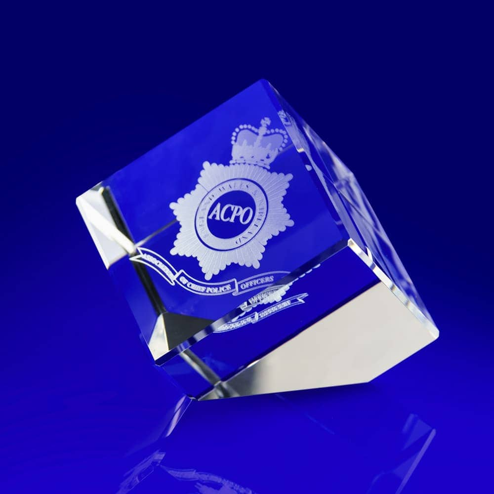 Cube slant paperweight corporate gift, all star trophy and awards, star awards, star paperweight, star paperweight engraved