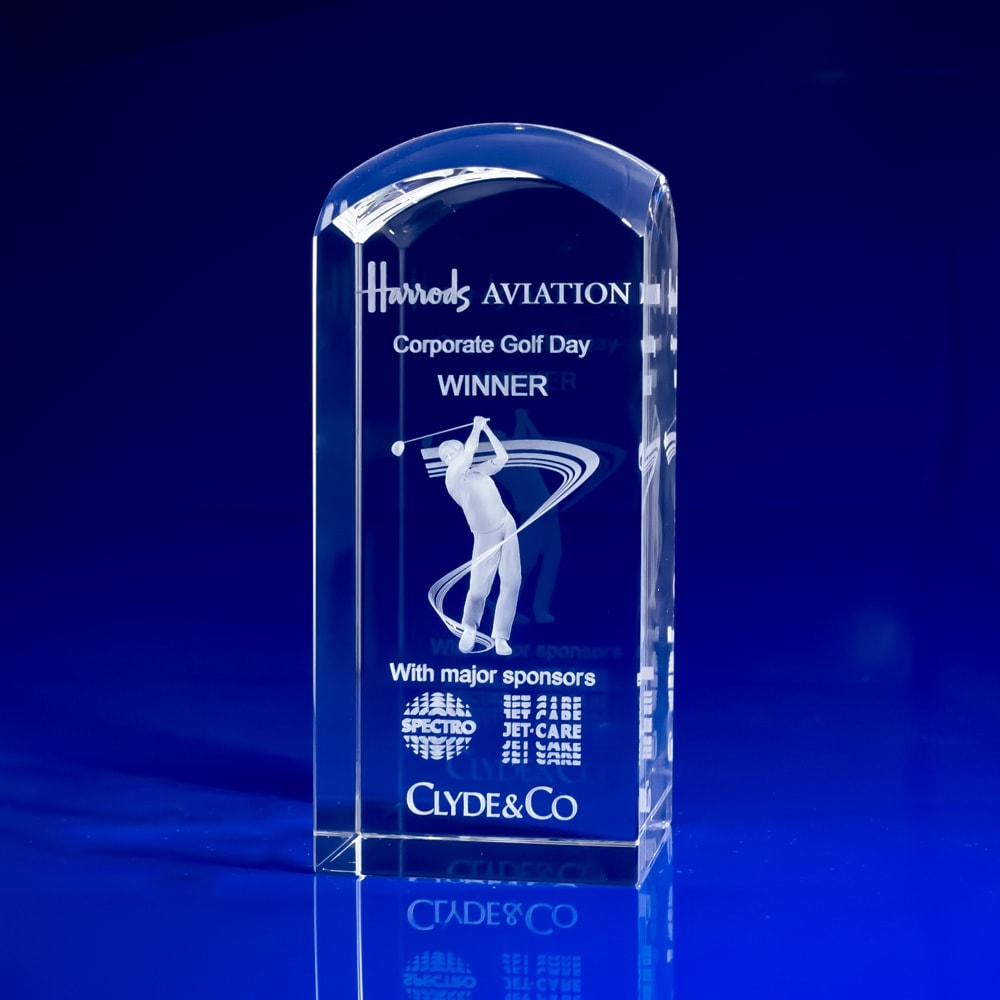 Golf Crystal Paperweight