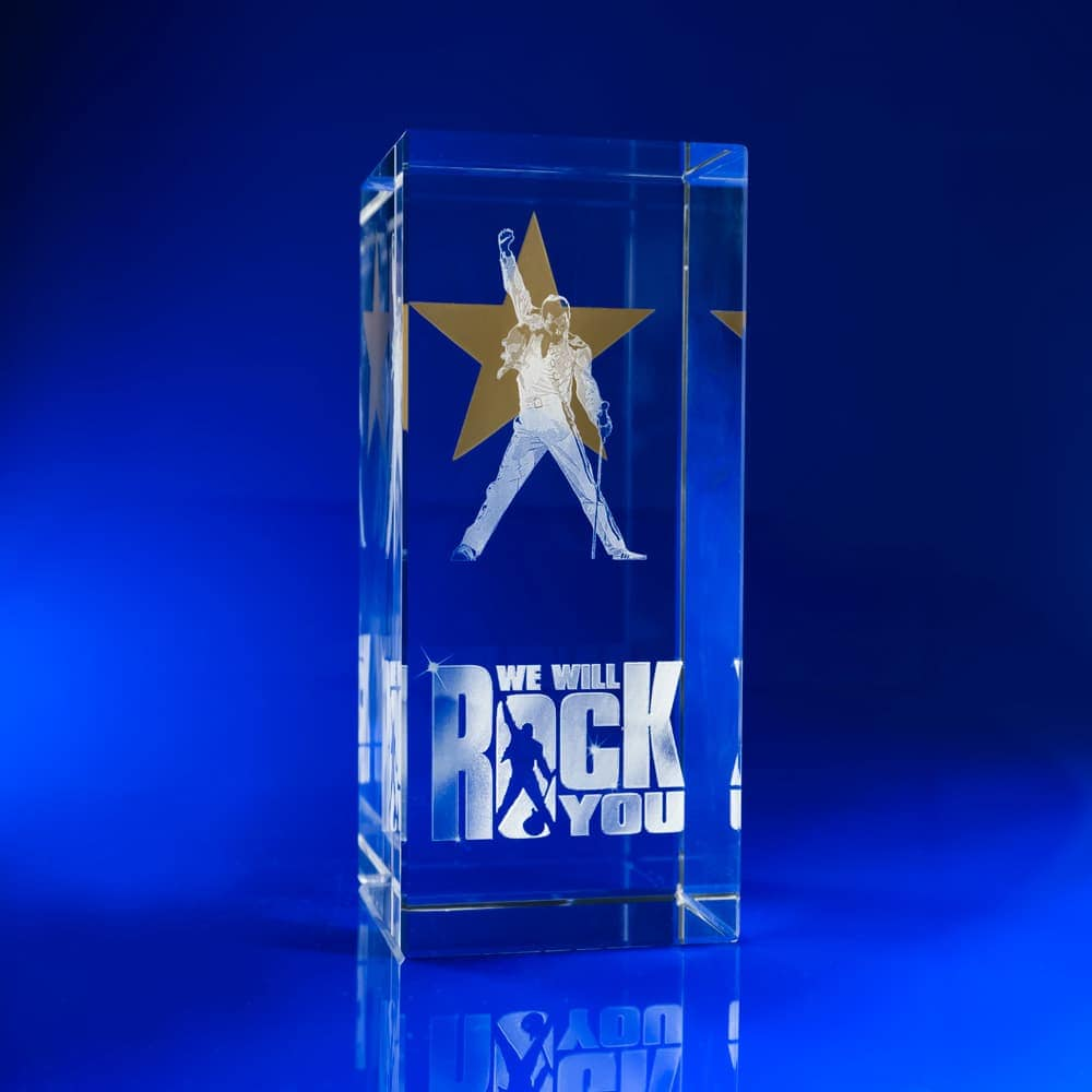 Gold Star Crystal Paperweight