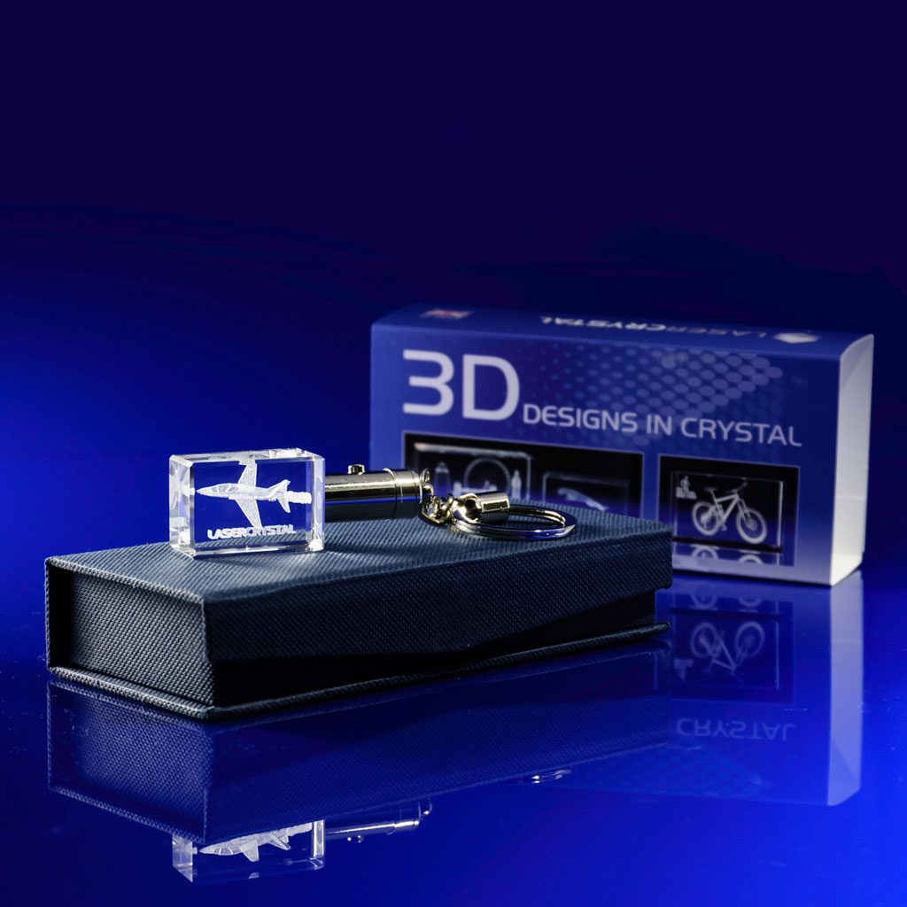 LED Crystal Keyring with Bespoke Printed Sleeve