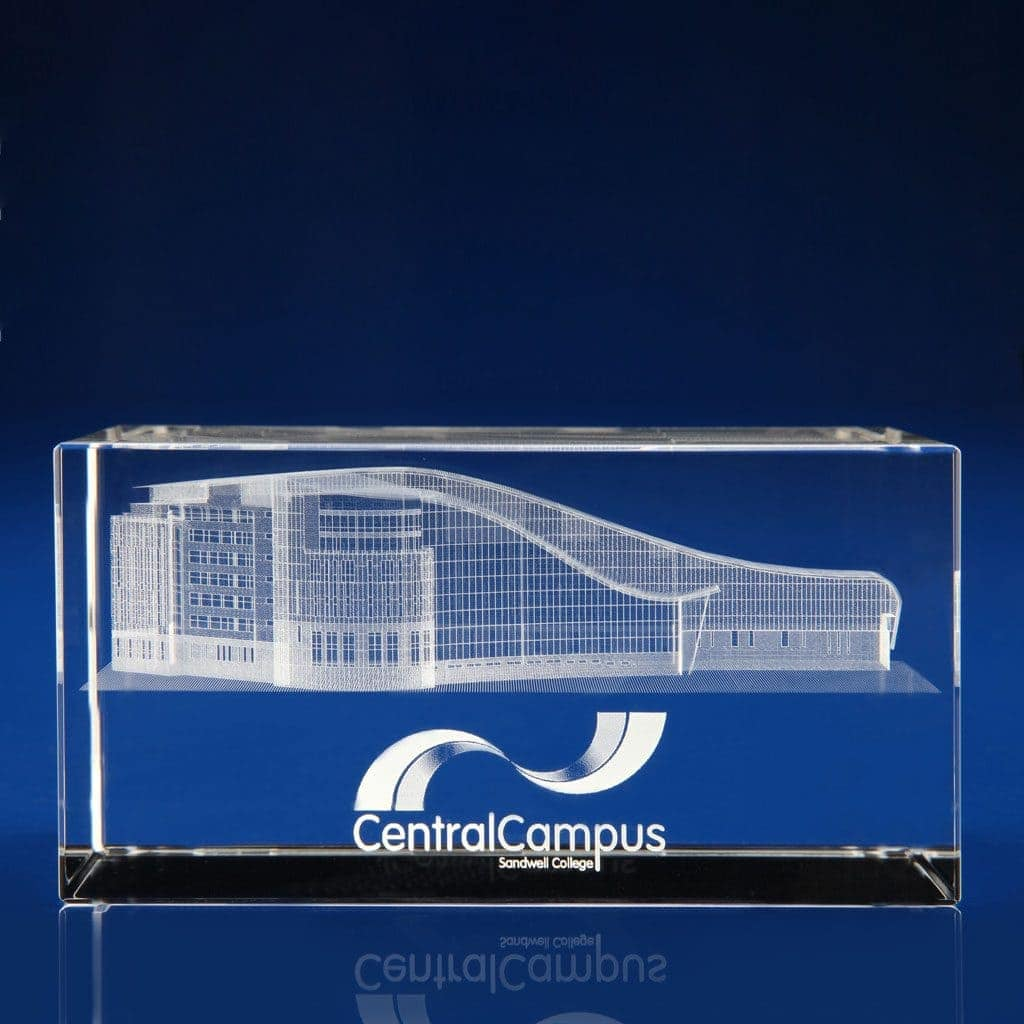 Rectangle Paperweight - 3D building, crystal architecture awards, School Awards, University Awards, school awards, academic achievement, teacher awards, education awards,