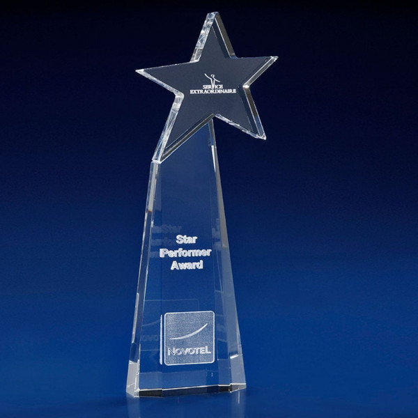 Starburst Award, staff appreciation ideas, Crystal Glass Star Awards, Star trophies and awards, crystal star awards, employee awards, all star trophy and awards, star trophies and awards, star shaped trophies, crystal star trophy