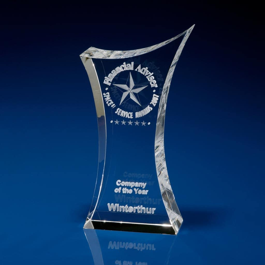 Bespoke Trophies, Corporate Awards, Crystal Trophy Award,
