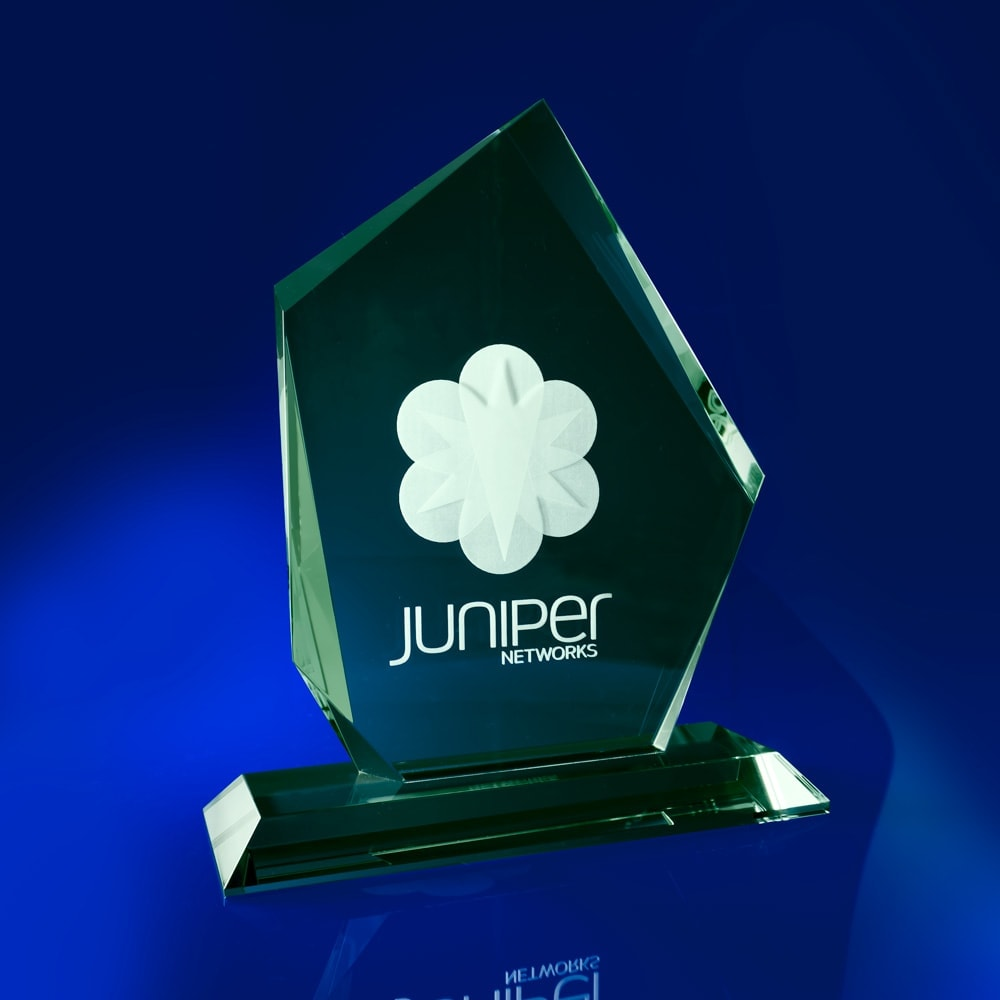 Glass Award Trophy, best employee award, Corporate star awards, Arctic Jade Crystal Corporate Award, Corporate Star Awards, star awards, corporate awards, green awards, glass awards & trophies, glass trophy awards, colour awards