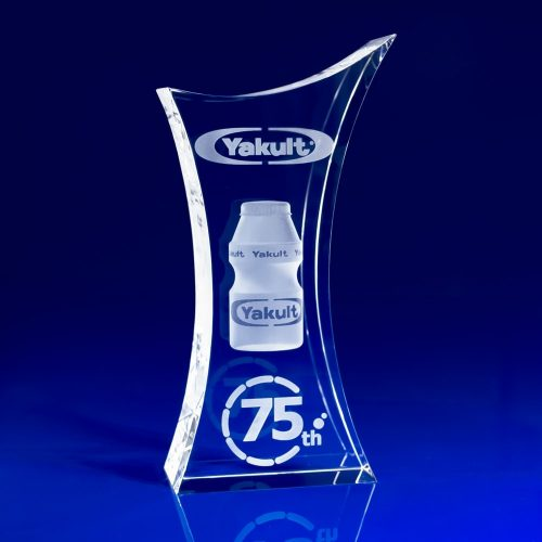 Trophy Crystal Paperweight