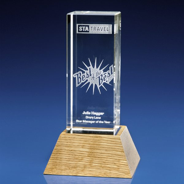 Rectangle Glass Star Awards
