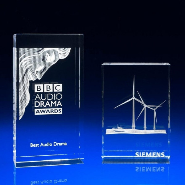 corporate awards and trophies, Bespoke 3D Corporate Awards, Crystal Awards