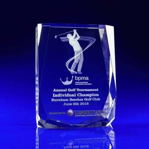 Corporate Golf Award, golfer award, crystal sports awards, golf event awards
