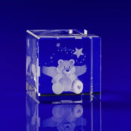 Engraved glass gifts, crystal engraved gifts, Crystals for Memory Boxes, teddy bear crystals, mementos, unique gifts, memory box, memory boxes, angel bear
