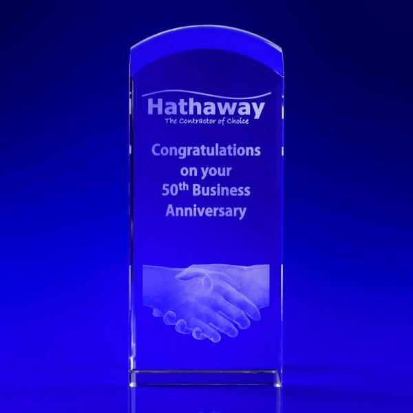 Business Anniversary Crystal Award