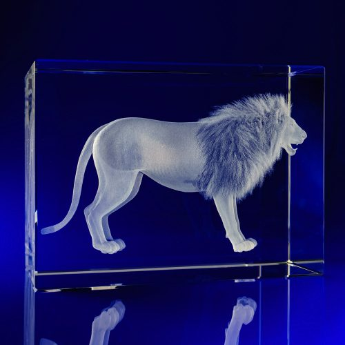 Rectangle 160x115L Lion Crystal Award