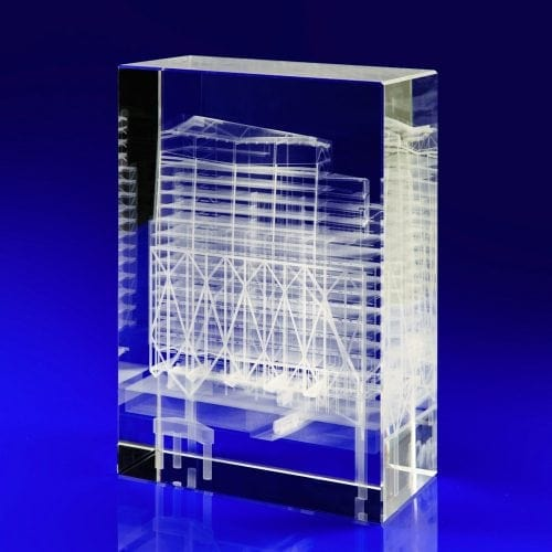 Wilkinson Eyre Engraved Glass Block