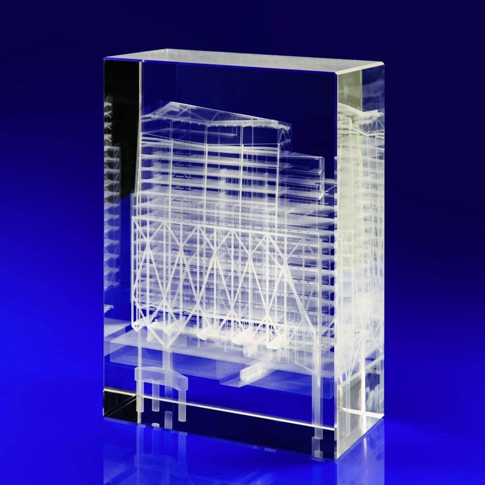 21 Moorfields, Crystal Glass Art Installation, Glass awards engraved, laser engraved glass blocks, Glass engravers, Wilkinson Eyre's glass art blocks, London Design Festival, Moorfields