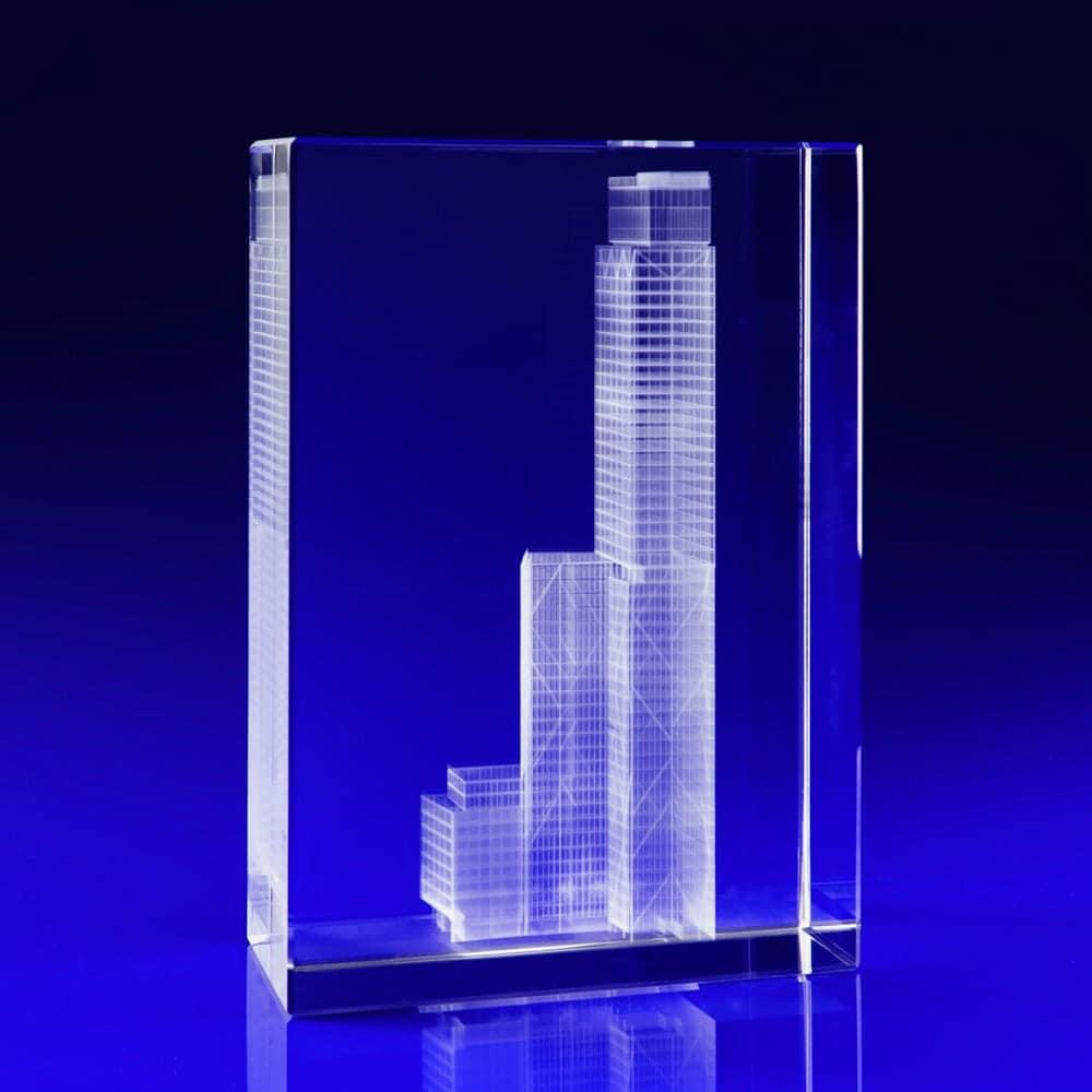 Prussian Blue, Crystal Glass Art Installation, Glass awards engraved, laser engraved glass blocks, Glass engravers, Wilkinson Eyre's glass art blocks, London Design Festival