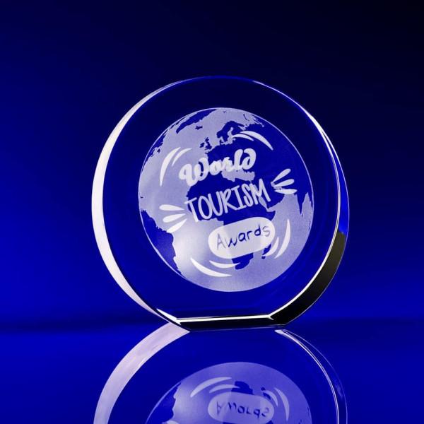 Glass Award,Crystal Award, circle awards, circular crystal awards, disc awards, corporate awards, trophy awards, glass trophies, glass awards, tourism awards