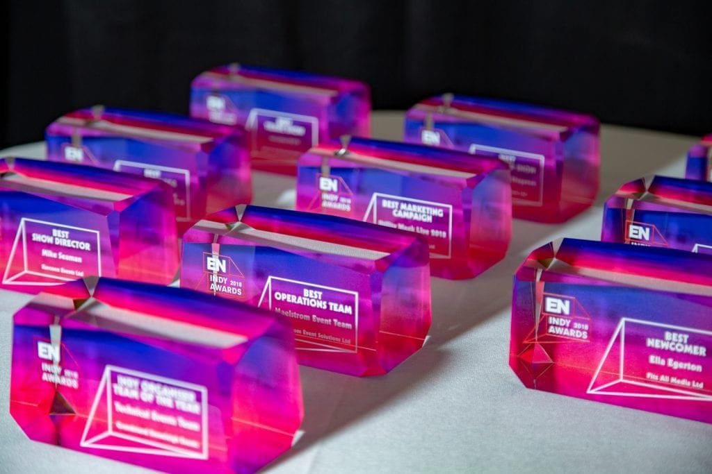 Collectable Trophy Awards at the EN Indy Awards 2018