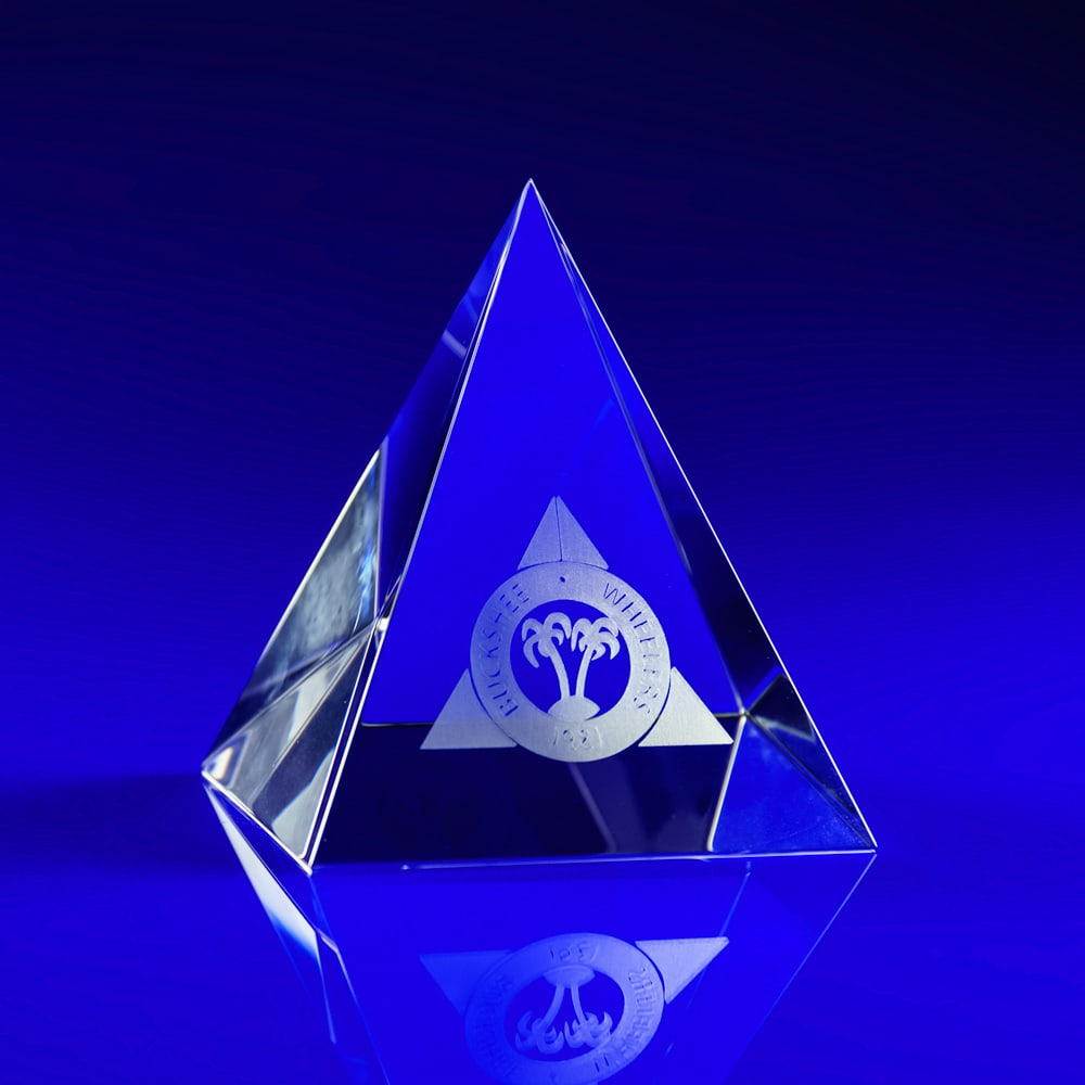 Pyramid 90 Crystal Award