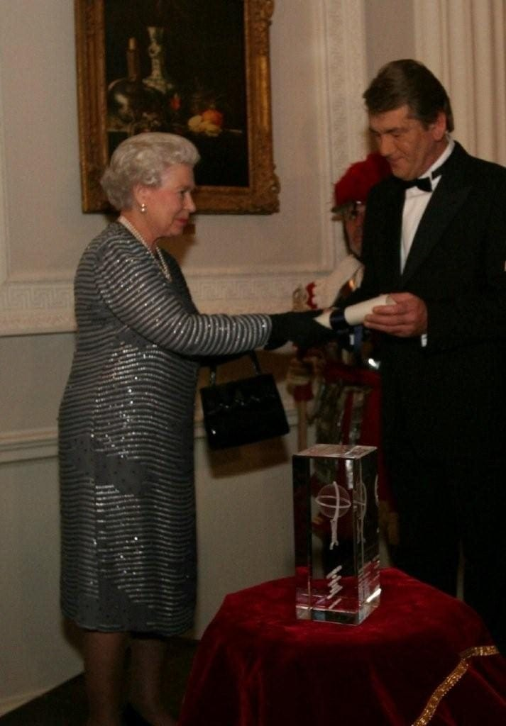 Laser Crystal award, The Queen presents Laser crystal, celebrity awards