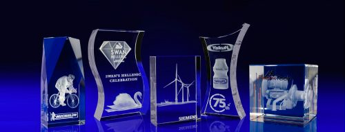 glass corporate awards, 3d laser engraving, sustainable glass awards and trophies