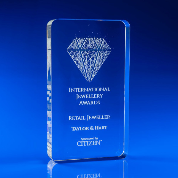 Limelight Portrait Award, modern award, contemporary trophy, custom award, award plaque
