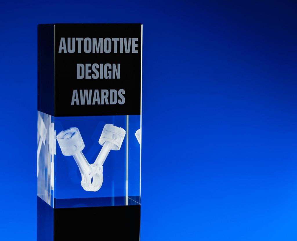 Engraved modern design crystal awards