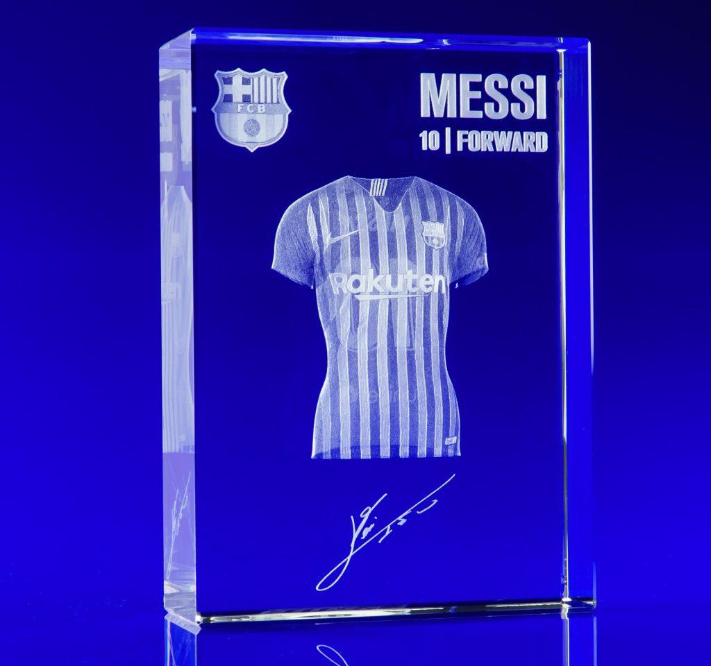 Football trophy, glass football trophy, 3d laser engraved football trophy