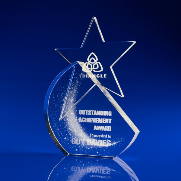 Star Shine Award, Crystal Star Award, Glass Star Award Trophy