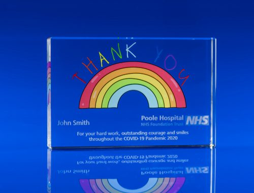 Unique Crystal awards to reward our NHS Heroes, Thankyou gifts, staff rewards, crystal awards, bespoke awards, personalised awards